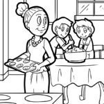 Coloring page cookies bake | eat