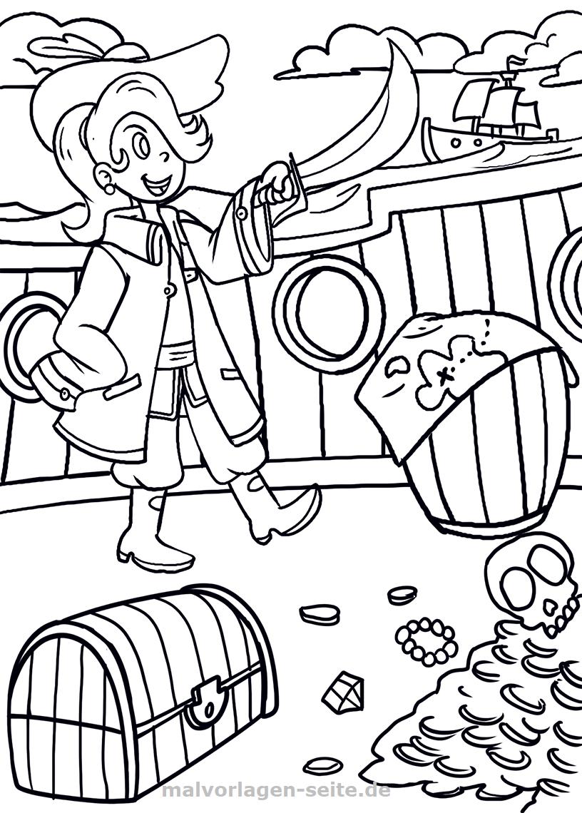 piraten madchen malvorlage