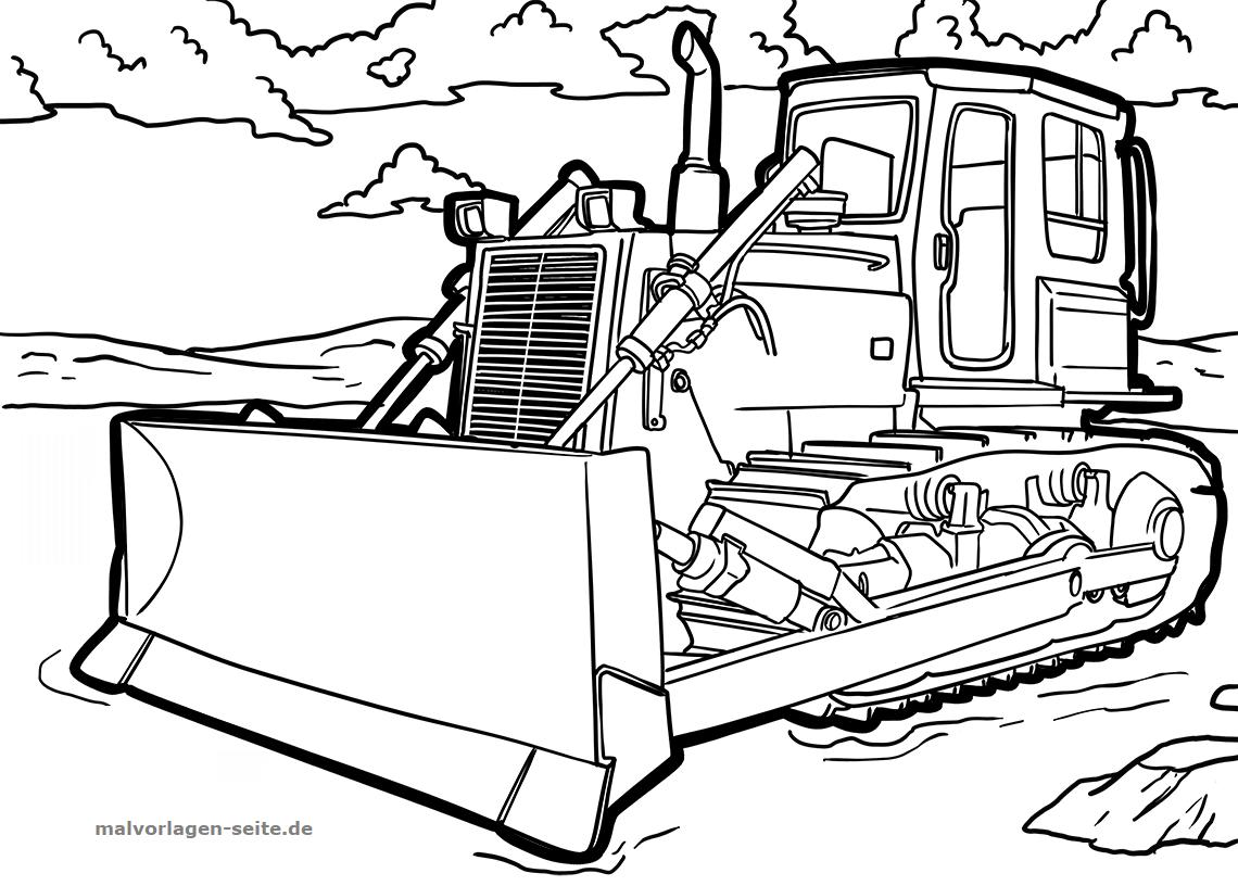 Malvorlage Planierraupe Fahrzeuge Ausmalbilder Kostenlos