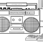 Coloring page radio | household