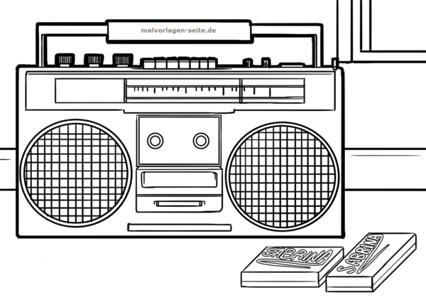 Coloring page radio | Free coloring pages for download