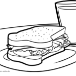 Coloring page Sandwich