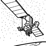 Coloring page satellite | space