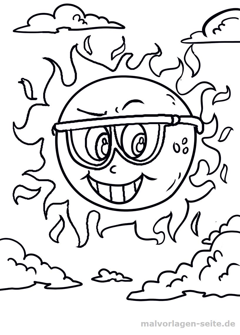 Malvorlage Sonne | Gratis Malvorlagen zum Download