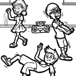 Coloring page dancing