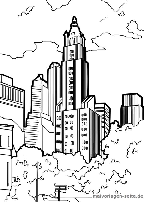 Malvorlage Wolkenkratzer