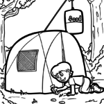 Coloring page camping / camping | vacation