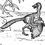 Coloring page Archaeopteryx