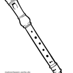 Coloring page Recorder | music