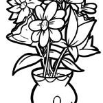 Malvorlage Blumenstrauß