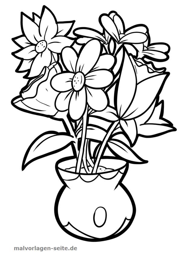 Malvorlage / Ausmalbild Blumenstrauß
