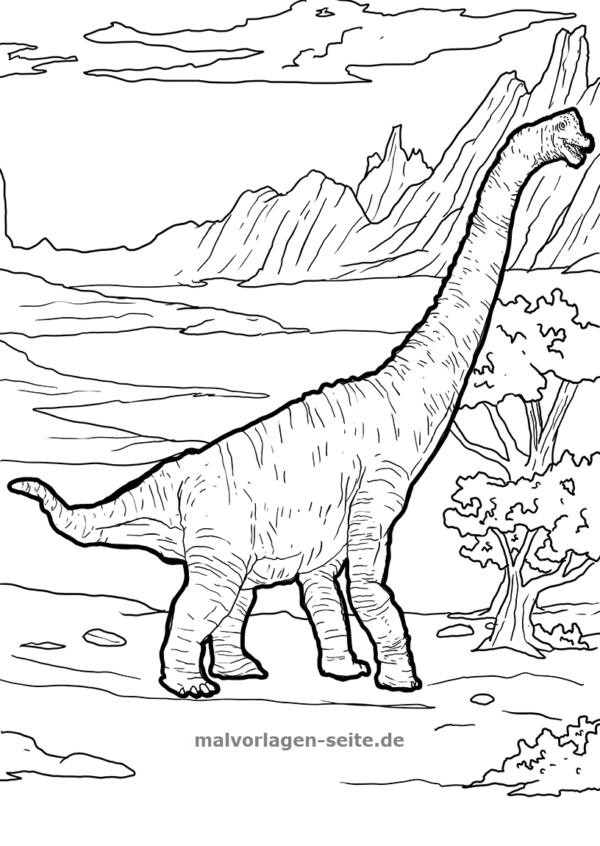 Coloring page dinosaur brachiosaurus