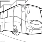 Coloring page bus | vehicles