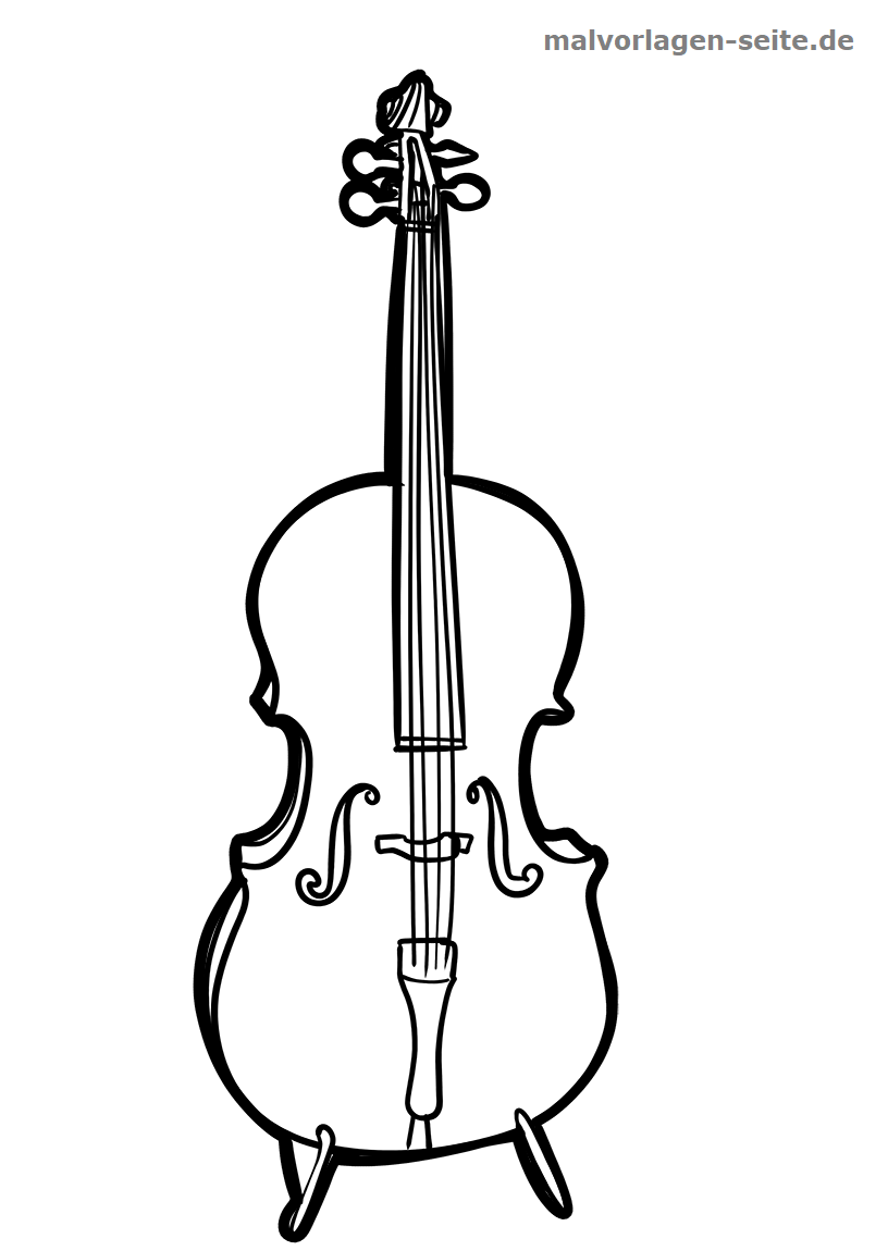 Malvorlage Cello | Gratis Malvorlagen zum Download