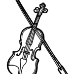 Coloring page violin | music