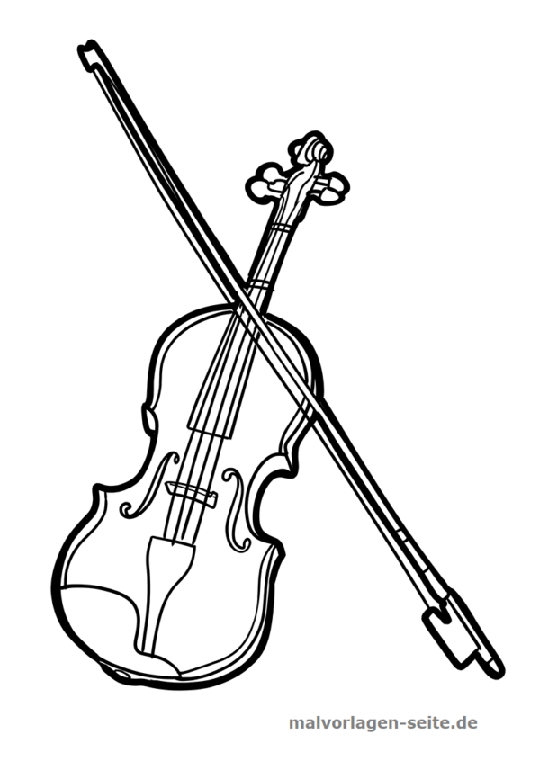 Coloring page musical instrument violin