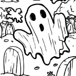Ghosts coloring book