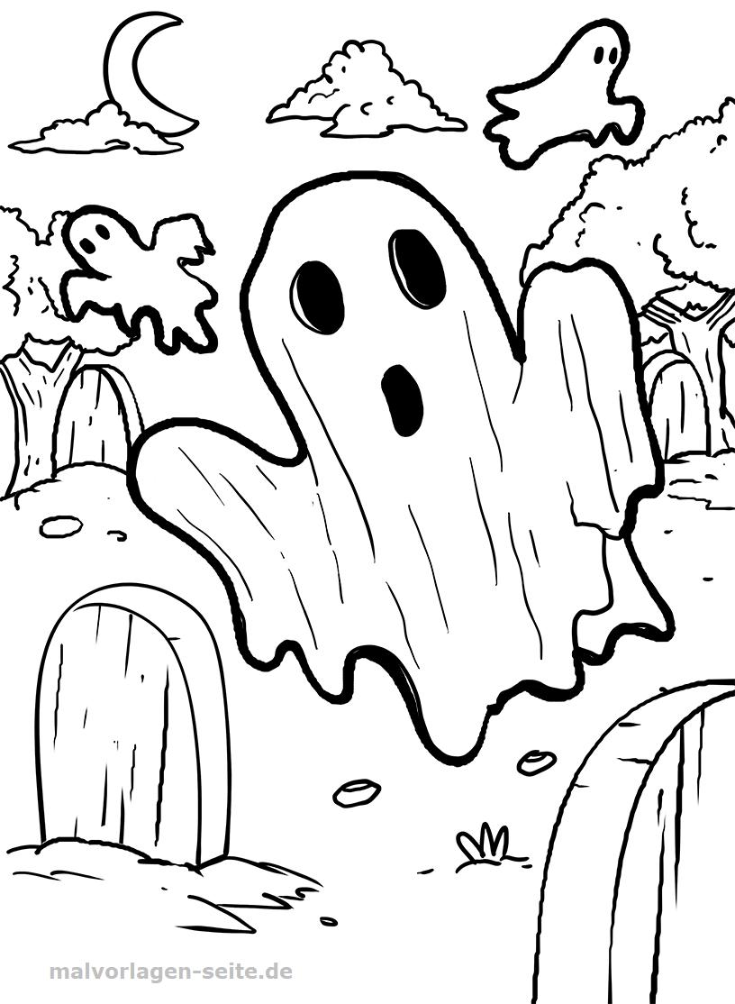 Halloween Ausmalbilder Geister : Ungew Hnlich Geister Malvorlagen Bilder Malvorlagen Von Tieren
