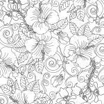 Coloring pages for adults - plants