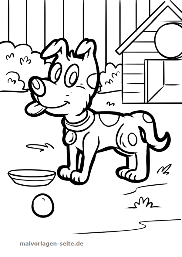 Coloring page Dog | Gratis Malvorlagen zum Download