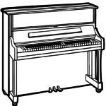 Coloring page piano | music