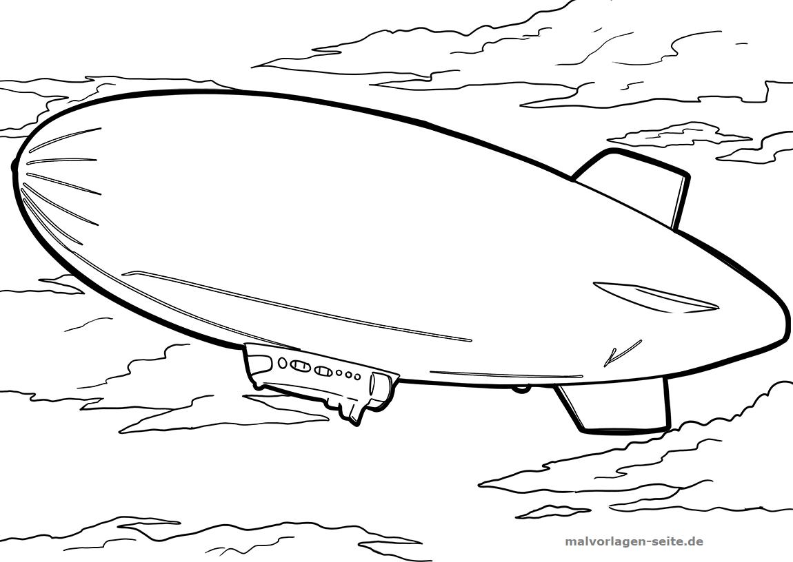 Malvorlage Luftschiff   Gratis Malvorlagen zum Download