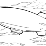 Coloring page airship | To fly