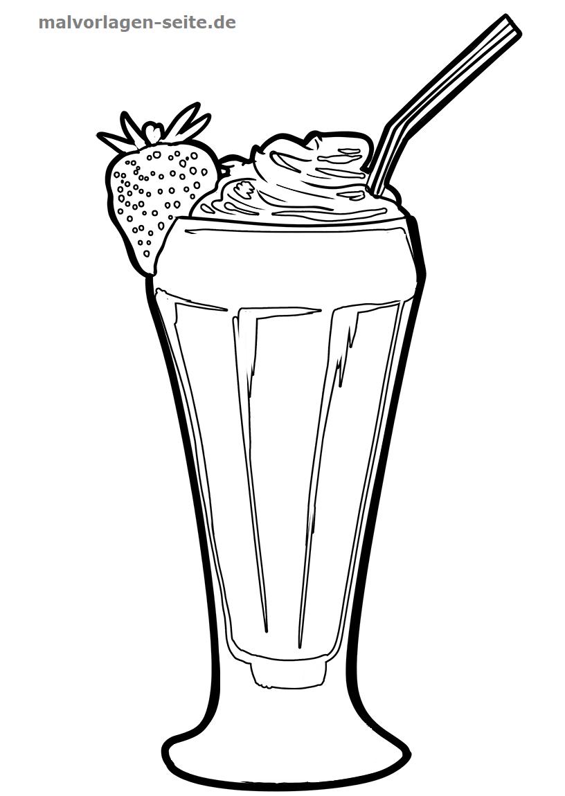 Malvorlage Milchshake Essen
