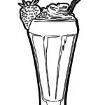 Coloring page Milkshake