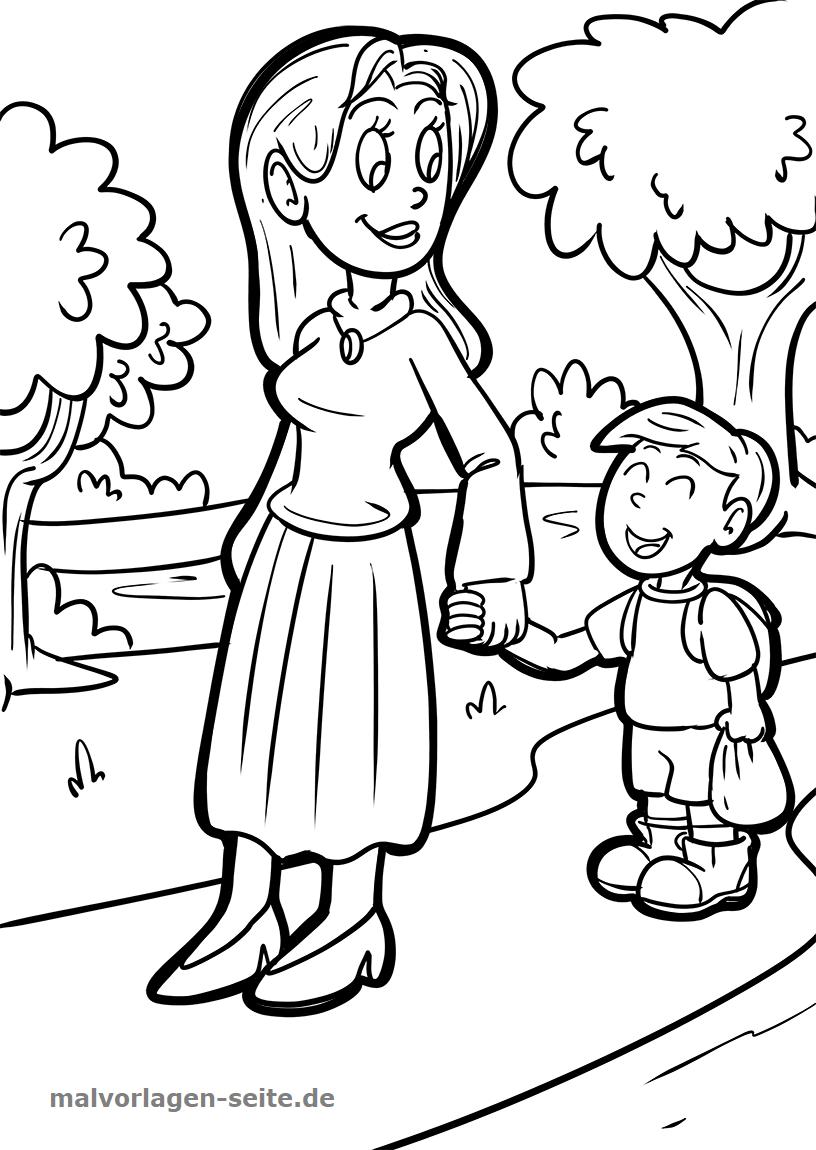 Malvorlage Mutter und Kind | Gratis Malvorlagen zum Download