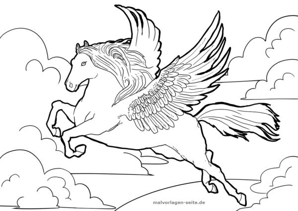 Malvorlage Pegasus