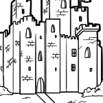 Coloring page knight's castle | Knights castle