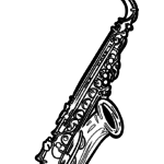 Coloring page Saxophone | music