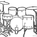 Coloriage tambours | la musique