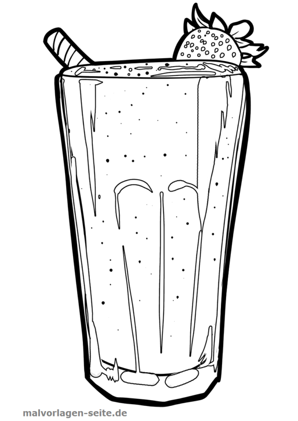 Coloring page smoothie