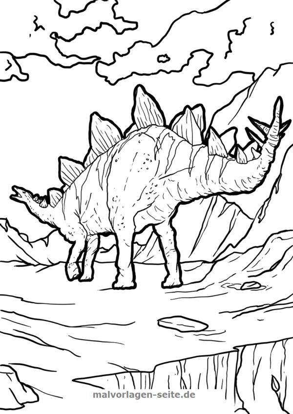Coloring page dinosaur Stegosaurus
