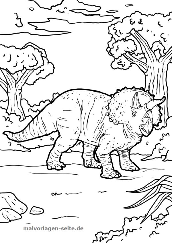 Malvorlage Triceratops Dinosaurier Kostenlose Ausmalbilder