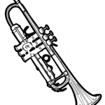 Coloring page trumpet | music