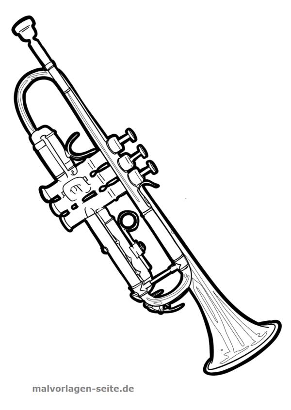 Malvorlage Musikinstrument Trompete