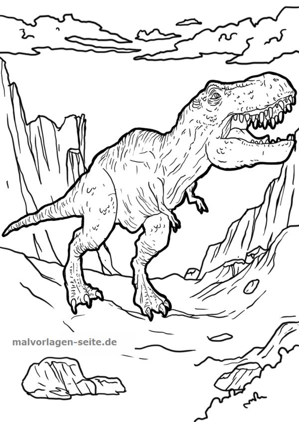 Malvorlage Tyrannosaurus Rex Dinosaurier Kostenlose Ausmalbilder