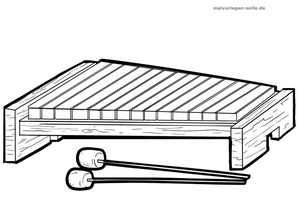malvorlage xylophon  musik  ausmalbilder kostenlos