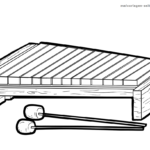 Coloring page xylophone Musical instruments