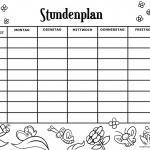 Timetable templates for coloring