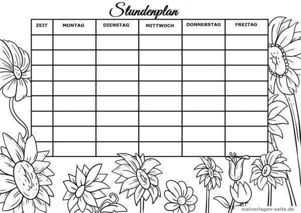 Timetable blomster