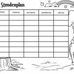 Stundenpläne Vorlagen Grundschule - Kostenlose Ausmalbilder