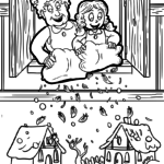 Coloring page fairytale