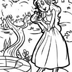 Coloring page frog prince fairy tale