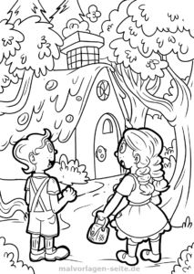 Fairytale quiz for children's birthday and kindergarten