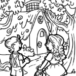 Coloring page Hansel and Gretel fairy tales