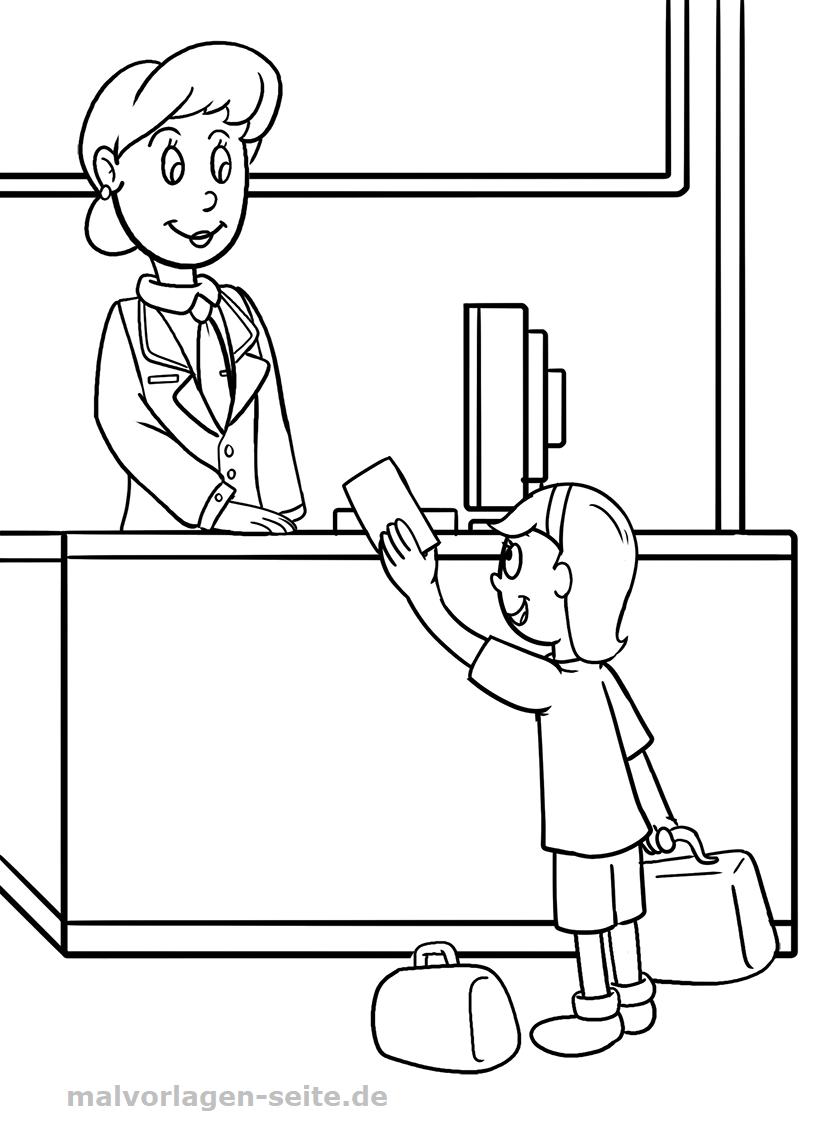 Malvorlage Schule Lehrerin | Gratis Malvorlagen zum Download